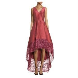 Dusty pink lace trim Hi-Lo Gown